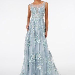 Scoop Neck Lace A-Line Shape Prom Dress GSGL2979